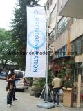 屋外のジャイアント水ベースが付いている立場を広告するフラッグポール5メートルの