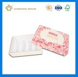 Rectángulo de empaquetado determinado del regalo cosmético de lujo de papel (con la bandeja interna del PVC)
