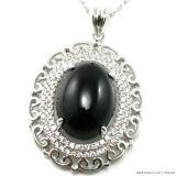 بالجملة فضة مجوهرات لون حجر كريم مدلّاة مجوهرات