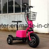 die 55km Reichweite pro Ladung-Cer bescheinigte der 3 Rad-elektrische Roller-Zappy Roller