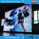 풀 컬러 실내 임대료 LED 표시 널을 광고하는 HD P6 단계 사건