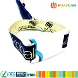 Wristband clásico del vinilo de la tela del festival MIFARE 1K RFID del acontecimiento