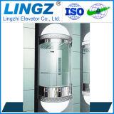 Elevador de cristal panorámico del pequeño hogar auto del pasajero con la cubierta redonda