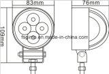 Heißes kleines 12W rundes LED Arbeits-Licht für Motorrad/Fahrrad (GT2009-12W)