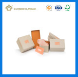 El papel impreso de lujo en caja de zapatos (con una tapa)