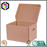 Caixa resistente do arquivo do armazenamento do cartão ondulado da única parede