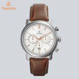 Het Horloge van de Sporten van mensen, Mens Watch72074 van de Datum van de Horloges van de Chronograaf van de Riem van het Leer de Auto