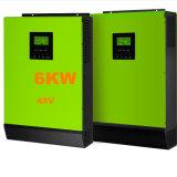 6kw 48V all'invertitore puro dell'ibrido dell'onda di seno di 220V 80A MPPT