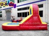 Glissière gonflable gonflable de videur de glissière d'eau d'enfants bon marché pour l'arrière-cour