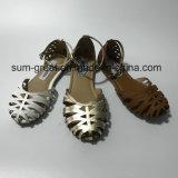Los zapatos planos del nuevo estilo escogen las sandalias de los zapatos