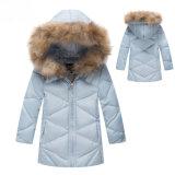 Commerce de gros Boutique de vêtements pour enfants, les filles de l'hiver de la fourrure veste de capot