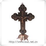 Распятие орнамента распятия Matel христианское стоящее (IO-ca093)