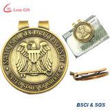 Presentes de promoção de negócios Custom Logo Metal Money Clip