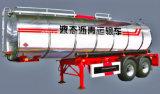 30cbm 2車軸液体のアスファルトタンクトレーラー、半タンクトレーラー