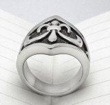 Pieza de acero fundido Titanium de la vendimia del anillo de los hombres negros de Matt