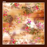 Belo lenço de seda impresso Digital (F13-0025)