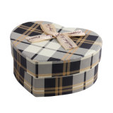 Boîte de luxe à sucrerie de boîte à chocolat de papier de forme de coeur
