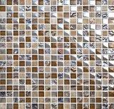 Pietra classica di disegno e mattonelle di mosaico montate maglia di vetro (M815014)