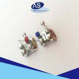 Parentesi ortodontiche del metallo non prezioso della maglia di profilo basso MIM con la FDA ISO13485 del Ce 345hooks