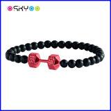Bandes noires et rouges de Fitlife d'haltère de bracelets de sports