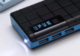 3 USB Portable 10000mAh Mobile Power Bank avec éclairage LED