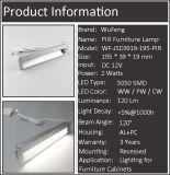 Lámpara empotrable de muebles PIR con perfil de protección ocular