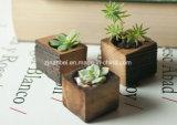 Crisol de madera del plantador de la flor de la pequeña vendimia de encargo
