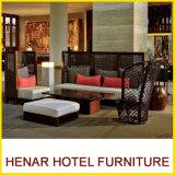 Auténtico Sofá mimbre Rattan muebles para el Lobby del Hotel