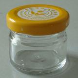 vaso di vetro del miele rotondo di 1oz 30ml con la protezione del metallo