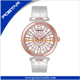 Montre de dames de luxe de fournisseur de la Chine de montre de plongeur de bijou de marque