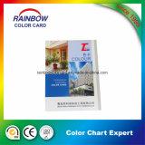 Tamanho A4 com cartão de cores de impressão completa para pintura de parede