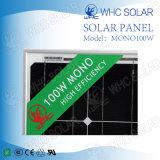 Großhandels-MonoSonnenkollektor der PV-Baugruppen-100W für Sonnensystem
