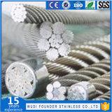Câble métallique du câble métallique d'acier inoxydable 7X19