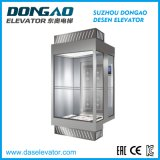 Ascenseur de tourisme avec cabine en verre