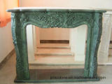 Bordadura do incêndio da pedra do Travertine da escultura dos animais, chaminé