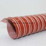 Silicone tecido de fibra de vidro reforçado com fios de borracha flexível de ar