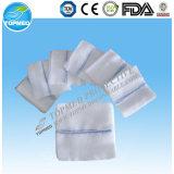 Esponjas 100% cirúrgicas médicas estéreis descartáveis da gaze do algodão