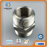 ASME B16.11は通した十六進ニップルのステンレス鋼の造られた付属品(KT0534)に