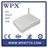4 FE Epon portuario WiFi ONU, 2 VoIP ONU