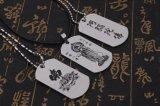 Halsband van de Tegenhanger van de Markering van de Hond van het roestvrij staal de Leuke Lege voor Huisdier