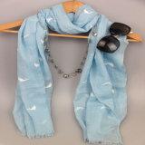 Шарф маркизета дельфина печатание, шарф полиэфира девушок, поставщик способа вспомогательный