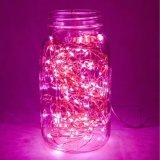 Luzes de cobre feericamente estrelados flexíveis cor-de-rosa do diodo emissor de luz com o adaptador da potência para o casamento do quarto da HOME do partido