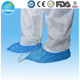 Dispositivo de higiene quirúrgica descartável impermeável CPE PE calçado de plástico calhas Overshoes