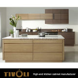 台所家具Tivo-0234hのための光沢度の高いPainitngおよびベニヤの食料貯蔵室のキャビネット