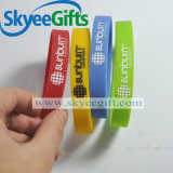 Wristband di gomma del silicone del braccialetto di marchio su ordinazione di marca