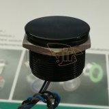 IP68 de 25mm 200mA 24VCA/CC normalmente abierto de cabeza plana de aluminio negro el interruptor de bloqueo Piezo