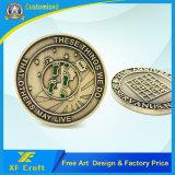 Подгонянный медальон /Souvenir монетки сувенира возможности металла промотирования коммеморативный латунный отсутствие минимальной (XF-CO14)