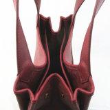 De donkerrode Uitstekende Handtas van Pu voor Vrouwen