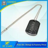 Costume do mais baixo preço alguns Tag de cão da cola Epoxy do metal do logotipo para a lembrança (XF-DT05)
