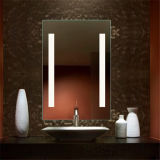 Espejo iluminado LED del cuarto de baño de la pista de Defogger del contraluz del hotel